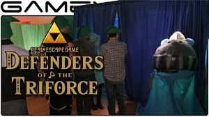 zelda escape room tour defenders of the triforce youtube