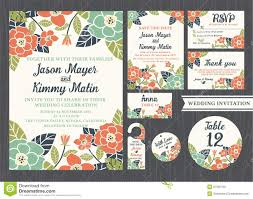 wedding invitation rsvp date tropical flower wedding invitation vintage design stock photo