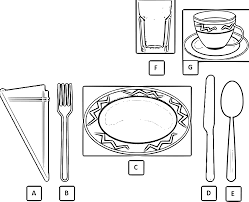 simple clipart table setting pencil and in color simple clipart
