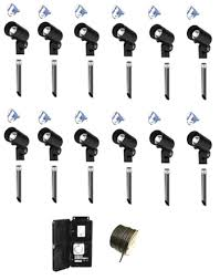outdoor led landscape lighting kits with hampton bay low voltage