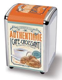 serviette en papier vintage distributeur de serviettes café croissant natives déco rétro