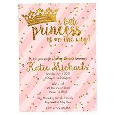 baby shower invitations girl pink gold princess baby shower invitations girl crown