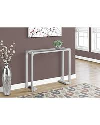 Accent Table L New Savings On Monarch I 2107 Accent Table 42 L Tempered Glass