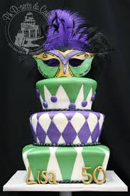 Cake Walk Masquerade 50th Birthday Cake