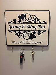 personalized wedding plaque personalized wedding gift for couples established sign plaque key