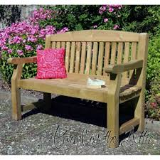 Garden Loveseat Bench Solid Wood Garden Bench Uk Made Fully Assembled Heavy Duty