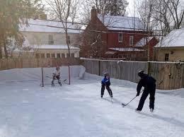 Backyard Hockey Rink by Backyard Hockey Rinks Range From Simple To Elaborate The