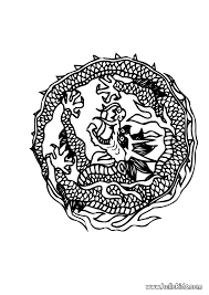 dragon mandala coloring pages hellokids com