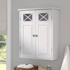 White Wall Bathroom Cabinet Wall Mounted Bathroom Cabinets You U0027ll Love Wayfair