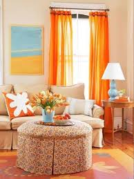 Red Orange Curtains Orange Curtains For Living Room Design Home Ideas Pictures