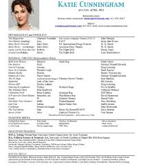 Sample Baker Resume by Examples Of Actors Resumes