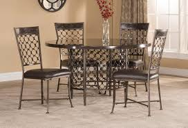 hillsdale brescello 5 piece round dining set charcoal blue stone