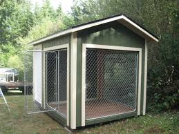 8x12 k9 kennel with 4x8 dog house and 8x8 kennel built to