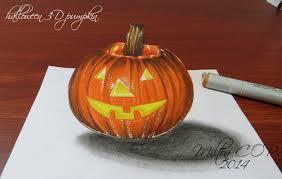 halloween pumpkin how to draw a 3d halloween pumpkin youtube