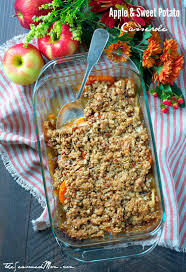 easy thanksgiving casserole easy apple and sweet potato casserole the seasoned mom