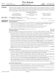 Sample Entry Level Project Manager Resume by Product Manager Resume Berathen Com