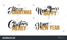 merry happy new year happy stock vector 525663142
