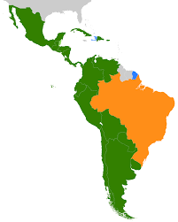 The Map Of South America by Of South America And Central America