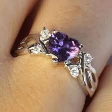 pretty rings pictures images Amethyst purple heart shaped promise ring beautiful promise rings jpg