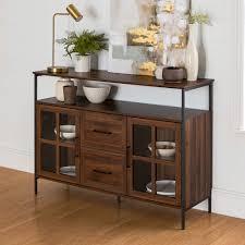 buffet sideboard cabinet storage kitchen hallway table industrial rustic sideboards buffet tables wayfair