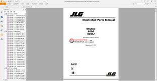 jlg illustrated parts manual 600a u0026 600aj auto repair manual