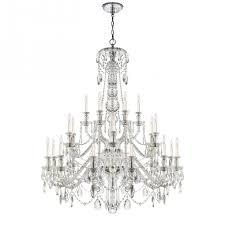 Designer Lighting Daniela Twenty Four Light Chandelier In Crystal Rl 5010cg