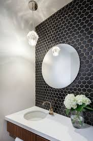 hexagon tile bathroom wall creative bathroom decoration