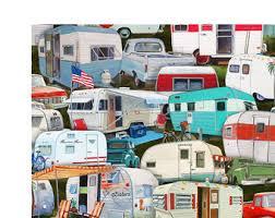 camper fabric etsy