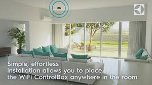 Air Conditioner For Living Room by Wifi Controlbox Electrolux Airconditioner Youtube