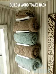 bathroom perfect solution for bathroom storage by using towel