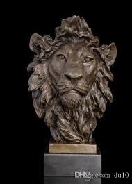 statue lions 2018 arts crafts copper bronze lions sculptures animal bust