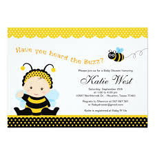 bumblebee baby shower personalized bumble bee baby invitations custominvitations4u