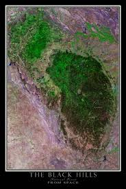 Map South Dakota Black Hills National Forest South Dakota Satellite Poster Map