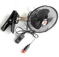 plug in car fan e2c 6 12 volt car fan truck fan with clip cigarette lighter