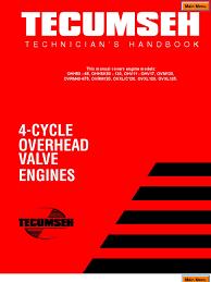 techumseh 4 stroke overhead valve service manual carburetor