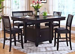 espresso dining room set espresso counter height storage dining room set from new