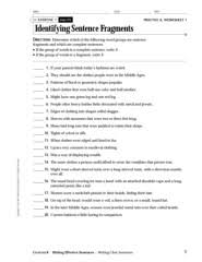 exercise 1 practice a worksheet 1 identifying sentence pages