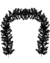 amazon com black halloween garland prelit of21 hw0954 home