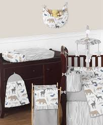 woodland animals baby bedding woodland animals baby bedding 9pc crib set by sweet jojo designs