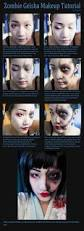 zombie geisha ha loween pinterest geisha makeup makeup and