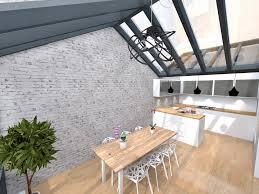 cuisine sous veranda extension cuisine veranda stunning v randa extension bois sur