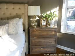 Headboards And Nightstands Bedroom Classic Distressed Natural Staining Oak Malm Nightstands