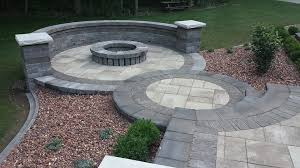 Circular Paver Patio Brick Paver Patios Custom Landscape Services