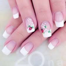 35 french nail art ideas pink polish lace design and beads