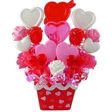 lollipop bouquet candy hearts valentines lollipops bouquet birthday gifts