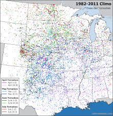 Tornado Map Tornado Chasing Mapping The Typical Peak Since 1990 Plus Longer
