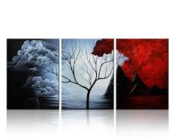 Canvas Home Decor 2017 3 Panels The Cloud Tree Wall Art Oil Paintings Giclee