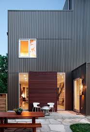 wood paneling exterior rustic corrugated metal siding exterior modern with wood siding