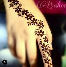 henna flower design for on eid and weddings