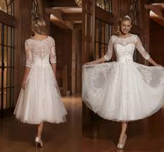 mid length wedding dresses mid length lace wedding dress wedding dresses for the